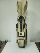 Callaway Golf Bag Tan/Black 6 way Divider Vintage Canvas Cart Bag - $93.14