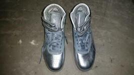 Reebok Freestyle HI Metallic Silver White Hi Top RB811 PVN 2-J00240 Size 7 - $89.99