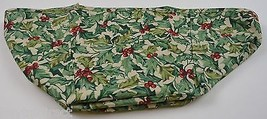 Longaberger Card Keeper Basket Liner American Holly Fabric Home Decor Accent - $12.99