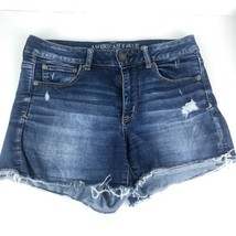American Eagle Women's AEO Super Stretch Denim Midi Jean Shorts Med Blue... - $14.84