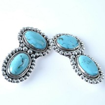 c1940's Navajo Sterling and Turquoise collar Tips - $369.33