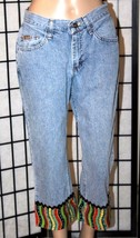 LEE RIDERS Women's Size 8M Medium Embellished Capri/Cropped Jeans Denim EUC - $22.24