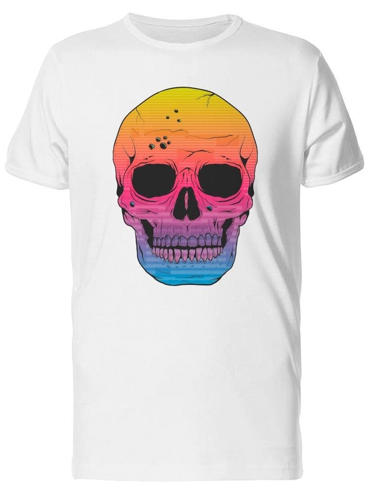 Primary image for Three Colored Gradient Skull Women's Tee -Image by Shutterstock
