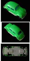 Green Plastic VW Bug Toy Vehicle Car Volkswagon Volkswagen Vintage - $19.99