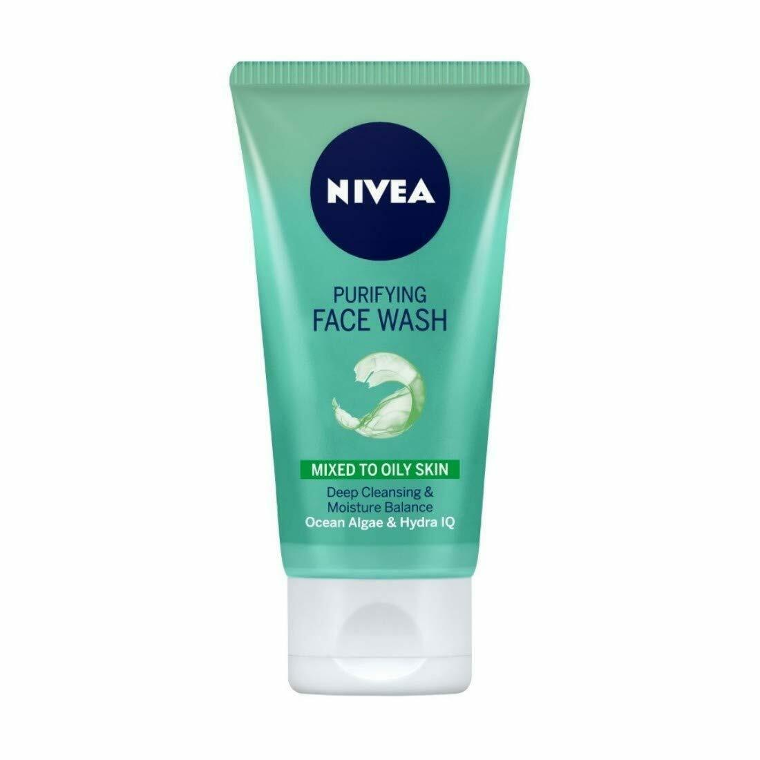 NIVEA Face Wash, Purifying Mixed to Oily Skin With Ocean Algae & Hydra HQ 150 ml - $15.11