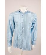Ted Baker London Men's Dress Shirt 16.5 34/35 Blue Purple Striped Button... - $29.69