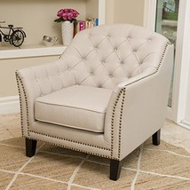 Modern Transitional Button Tufted Upholstered Accent Club Chairs with Na... - $372.09