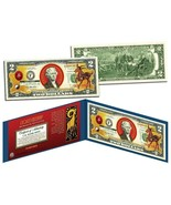 Chinese 12 Zodiac YEAR OF THE GOAT SHEEP Colorized USA $2 Dollar Bill Ce... - €16,70 EUR
