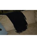 Banana Republic Throw Blanket Cashmere Black 55 X 72 with Fringe - $160.00