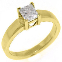 .72CT WOMENS SOLITAIRE PRINCESS SQUARE CUT DIAMOND ENGAGEMENT RING YELLO... - £2,656.07 GBP