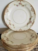Homer Laughlin~Dessert Plates~Nautilus Gold Wedding China Replacements~Eggshell - $55.00
