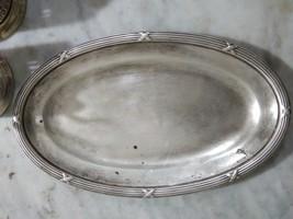 Rare Plat metal argenté antique BoulengerXIXeme Siècle ,dessin miniature... - $90.00