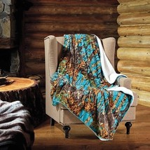 "Sea Breeze CAMO WOODS Camouflage Sherpa Throw Light Weight Blanket 50"" x... - €26,79 EUR"