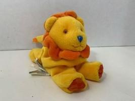 Gymboree Gymbabies Grreg small plush beanbag lion yellow orange polka dots toy  - $9.89