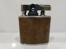 Vintage RONSON Princess Working Wood Wrapped Lighter / USA MADE - $17.59