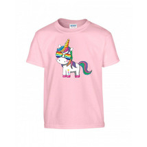 Unicorn With Sunglasses Girl's T Shirt - $10.38+