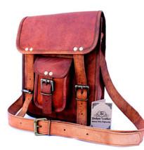 """New 11"""" Men's Messenger Vintage Rustic Leather Shoulder Briefcase Laptop... - $71.65"""