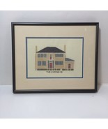 """The Chimneys Finished and Framed Cross Stitch 9.5"""" x 11.5"""" House - $19.34"""
