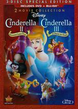 Disney Cinderella 2 Dreams Come True/Cinderella 3 Twist In Time Blu-ray/DVD New