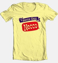 Necco T-shirt candy retro vintage style 1970's 100% cotton yellow graphic tee image 2