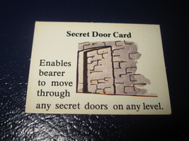 1980 TSR D&D: Dungeon Board Game Piece: Treasure 3rd Level Card- Secret Door - $1.00