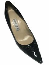 Jimmy Choo London Women's Black Patent Leather Kitten Heel Pumps - 40/EU 9.5/US - $148.49
