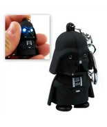 LED DARTH VADER KEYCHAIN w LIGHT and SOUND Toy Keyring Key Chain Ring St... - $6.95