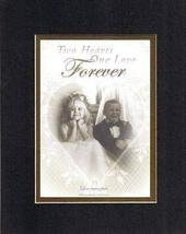 Two Hearts One Love Forever 8 x 10 Inches Biblical/Religious Verses set ... - $11.14