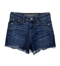 American Eagle Hi Rise Shortie Women Size 0 (26x3) Cut Off Shorts Super ... - $17.82