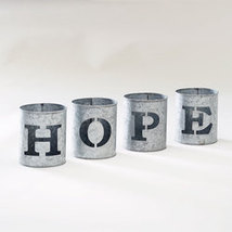 4-Pc. Galvanized Hope Buckets - €16,83 EUR