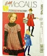 McCalls sewing pattern M5745 girls plus dress size 101/2-161/2 new - $12.25