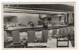 Dugout Cafe & Bar Interior Port of Duluth Minnesota 1950s postcard - $6.44