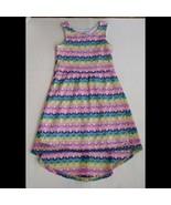 Colorful Girls HiLo Dress Size 10/12 Blue Pink Purple Yellow Green Wonde... - $14.84