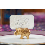 60 good luck elephant place card holders wedding favors placecard favor  - $101.25