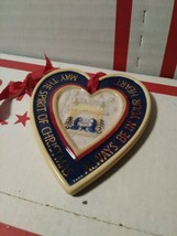 2004 Kathy Killip For Demdaco Ornament Folk Heart Winter -Warm Wishes- U... - $6.42