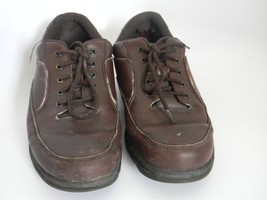 Mens Rockport Eureka Brown Leather Upper Shoes Size 13M K71201 - $27.99