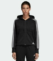 Adidas Women's Must Haves 3 Stripes Full Zip Hoodie Us Size L STYLE#DW9695 - $64.30