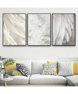 Nordic Poster Feather White Posters And Prints Picture Canvas Painting A... - $5.99+