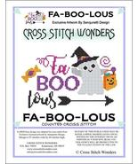 Fa-Boo-Lous halloween cross stitch chart Cross Stitch Wonders - $5.00