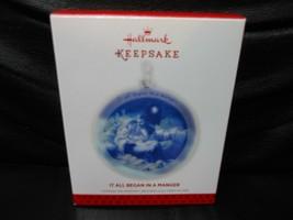 "Hallmark Keepsake ""It All Began In A Manger"" 2013 Glass Ornament NEW - $5.89"