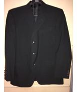 Men's John Blair Black Polyester 3 Button Sport Jacket/Blazer (42R) - $20.57