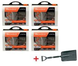 AutoSock HD AL74 (4 Sets) Snow Sock Set W/ Emergency Snow Shovel - $910.78