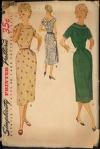 50s Size 14 Bust 32 Low Back Dress Simplicity 4602 Vintage Pattern Mid C... - $6.99