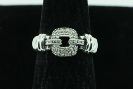 DAVID YURMAN Sterling Silver Madison Ring with Paved Diamond Buckle (Size 5 3/4) - $375.00