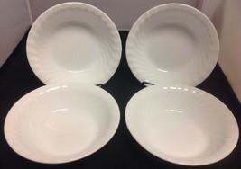 "CORELLE White Swirl Enhancements Set of 4 - 7 1/4"" Soup/Cereal Bowls - $19.35"