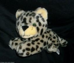 "10"" Vintage 1989 Fiesta Snow Leopard Brown Tan Stuffed Animal Plush Toy Cute - $23.38"