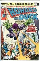 HOWARD THE DUCK #2 1976-BRITISH VARIANT-FRANK BRUNNER ART-RARE-vg - $44.14
