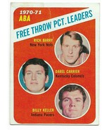 1971-72 Topps #149 1970-71 ABA Field Goal PCT. Leaders Rick Barry - $2.65
