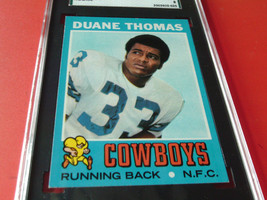 1971 Duane Thomas Rookie #65 Topps Sgc 88 Near MINT/ Mint 8 Cowboys Football - $79.99