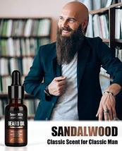 4 Pack Beard Oil Organic Leave in Conditioner Serum Kit - Cedarwood, Sandalwood, image 3